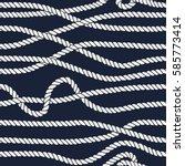 marine rope line seamless... | Shutterstock .eps vector #585773414