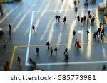 Walking People In City