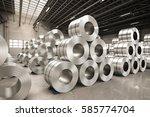 3d rendering roll of steel... | Shutterstock . vector #585774704