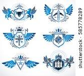 vintage heraldry design... | Shutterstock .eps vector #585778289