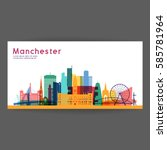 manchester colorful... | Shutterstock .eps vector #585781964