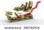 3d rendering collapsing stack... | Shutterstock . vector #585782924