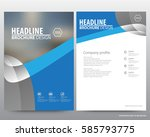 abstract vector modern flyers...   Shutterstock .eps vector #585793775
