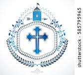 heraldic coat of arms... | Shutterstock .eps vector #585795965
