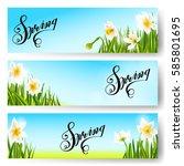 vector spring background ... | Shutterstock .eps vector #585801695