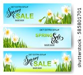 vector spring sale background ... | Shutterstock .eps vector #585801701