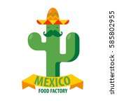 mexican restaurant vector icon... | Shutterstock .eps vector #585802955