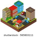 3d design for buildings in the... | Shutterstock .eps vector #585803111