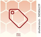 sale icon. flat style for... | Shutterstock .eps vector #585806159