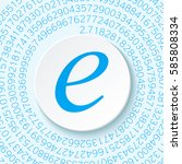 euler's number with a shadow on ... | Shutterstock .eps vector #585808334