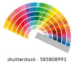 color guide with palette of