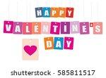 cardboard hanging   vector... | Shutterstock .eps vector #585811517