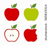 red and green apples. vector... | Shutterstock .eps vector #585819314