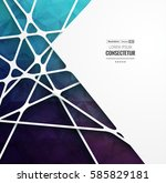 abstract geometric background... | Shutterstock .eps vector #585829181