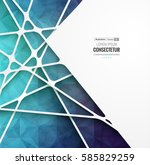 abstract geometric background... | Shutterstock .eps vector #585829259