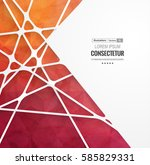 abstract geometric background... | Shutterstock .eps vector #585829331