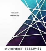 abstract geometric background... | Shutterstock .eps vector #585829451