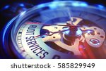pocket watch face with audit... | Shutterstock . vector #585829949