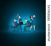 business concept illustration.... | Shutterstock .eps vector #585836141
