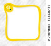 yellow frame for your text and... | Shutterstock .eps vector #585836459