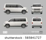 passenger white van mini bus... | Shutterstock .eps vector #585841727