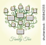 family tree with photo frames... | Shutterstock .eps vector #585842555