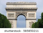 arch of triumph in paris  france | Shutterstock . vector #585850211
