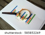 look close with magnifying... | Shutterstock . vector #585852269