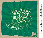 typographic poster for st.... | Shutterstock .eps vector #585868565