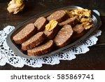 homemade sweet chocolate...   Shutterstock . vector #585869741