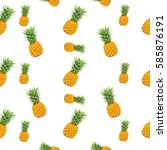 background by pineapple texture ... | Shutterstock . vector #585876191