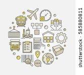 logistics and transportation... | Shutterstock .eps vector #585880811