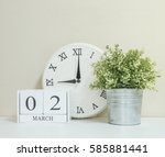 White Wooden Calendar With...
