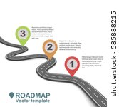 abstract business roadmap... | Shutterstock .eps vector #585888215