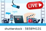 video blog camera online stream ... | Shutterstock .eps vector #585894131