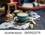 cappuccino  | Shutterstock . vector #585902579