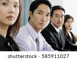 business people in a row | Shutterstock . vector #585911027