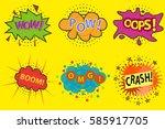 comic explosion  comic... | Shutterstock .eps vector #585917705