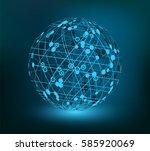 abstract technology sphere... | Shutterstock .eps vector #585920069