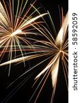two multicolored bursts of... | Shutterstock . vector #58592059