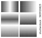 set of halftone backgrounds... | Shutterstock .eps vector #585920825