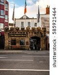 """Small photo of DUBLIN, IRELAND - November 16, 2005: The facade of """"The Brazen Head"""" in central Dublin, it is the oldest pub in Ireland."""