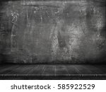 Grunge. Empty Wooden Table For...