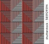 seamless vector abstract... | Shutterstock .eps vector #585929594
