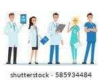 doctors team | Shutterstock .eps vector #585934484