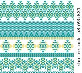 ethnic seamless pattern with... | Shutterstock .eps vector #585935831