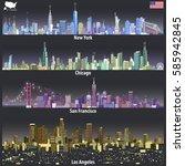 abstract vector illustrations... | Shutterstock .eps vector #585942845