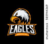 furious eagle sport vector logo ... | Shutterstock .eps vector #585944369