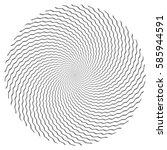 circle design element. zigzag... | Shutterstock .eps vector #585944591