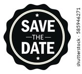 save the date stamp.sign.seal... | Shutterstock .eps vector #585946271